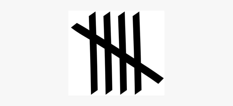 Number 5 Tally Marks , Free Transparent Clipart.