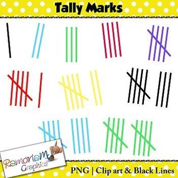 Tally Marks Clip art FREE.
