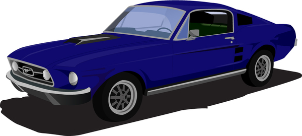 1 Blue Car Clipart.