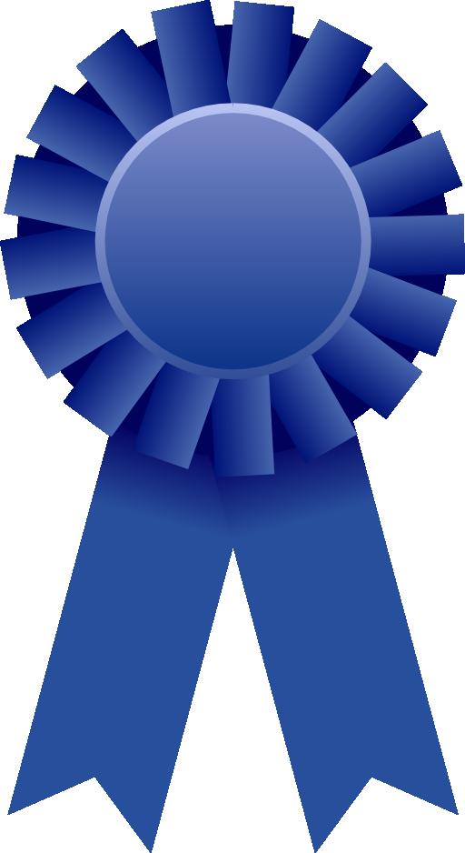 Blue ribbon Rosette Clip art.