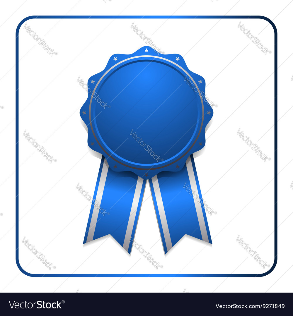 Ribbon award icon blue 1.