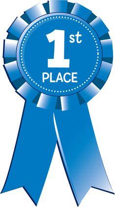 544 Blue Ribbon free clipart.