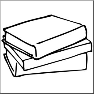 Clip Art: Books 1 B&W I abcteach.com.