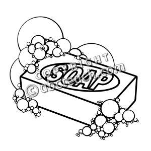 Clip Art: Soap B&W.