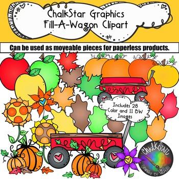 Fall Wagon September Clip Art.