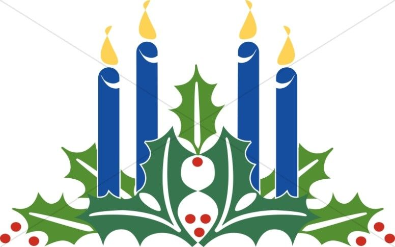 Advent Candles Clipart Christmas.
