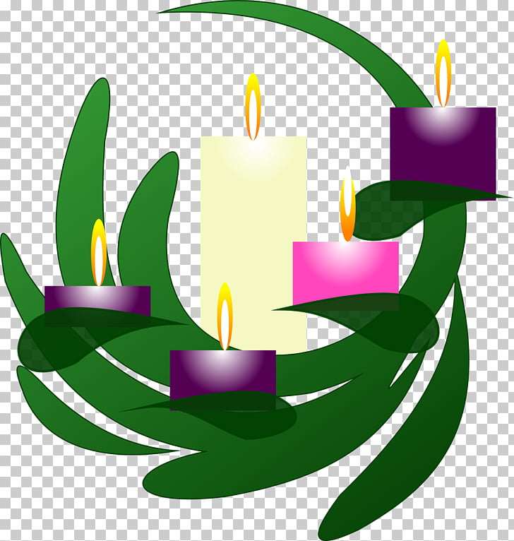 Advent wreath Advent candle , Church Candles PNG clipart.