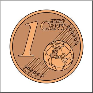 Clip Art: Euro 1 Cent Color I abcteach.com.