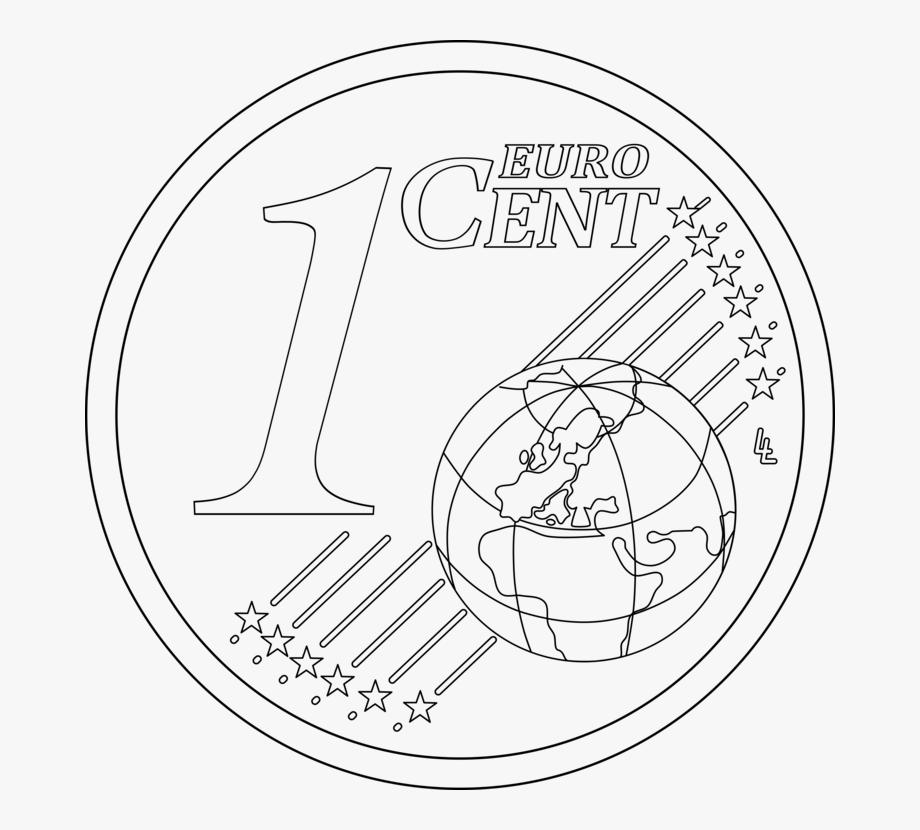 Penny 1 Cent Euro Coin 1 Euro Coin.