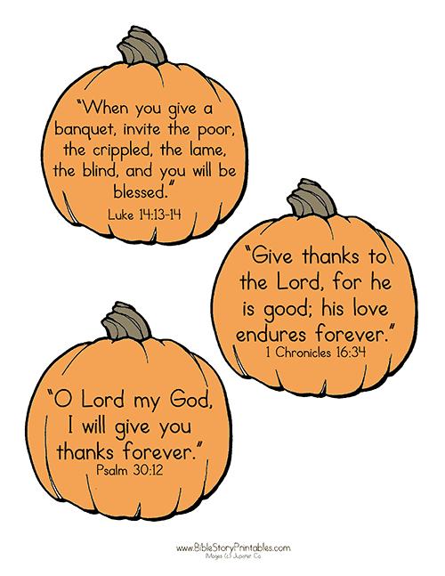 Thanksgiving Bible Printables.