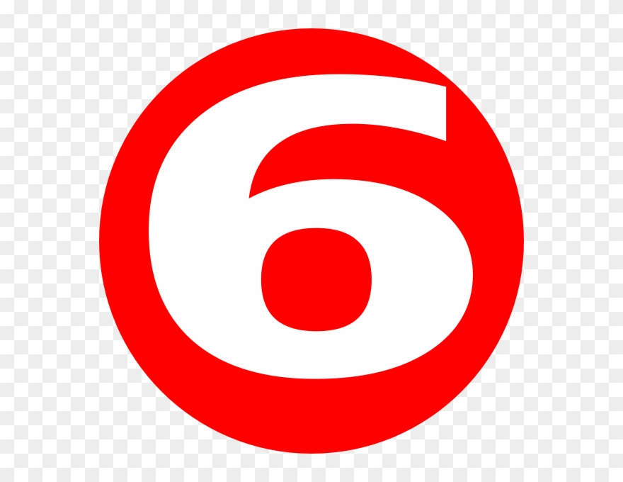 Number 6 In A Red Circle Clipart (#1365873).