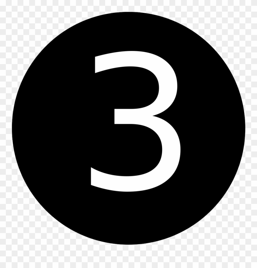 Number 3 In Black Circle Clipart (#887211).