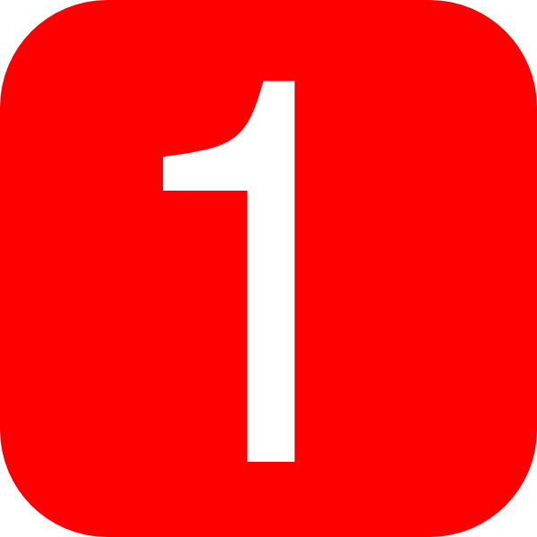 Red, Rounded, Square With Number 1 Clip Art at Clker.com.
