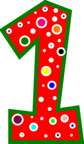 Number 1 Clipart.
