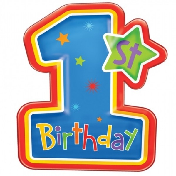 Birthday One Clipart.