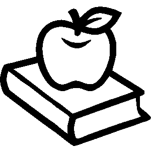 Book black and white apple black white apple and clipart page 1.
