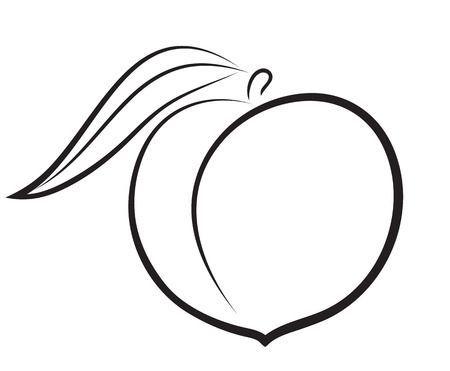 Peach clipart black and white 1 » Clipart Portal.