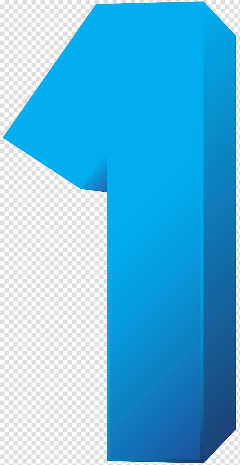 Blue number 1 illustration, Brand Blue Pattern, Blue Number.