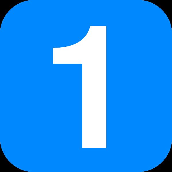 Blue Number 1 Clip Art at Clker.com.