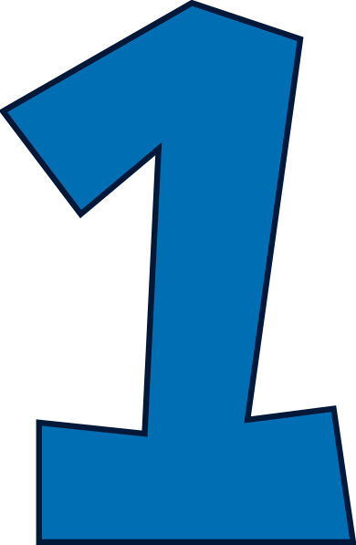 Number One Clip Art Blue #44197.