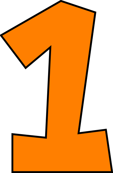 Number 1 Clipart Free.