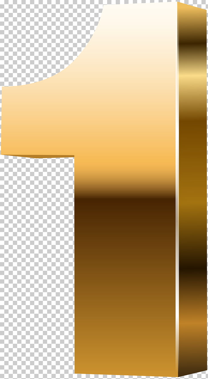 Yellow Material Design Pattern, Number One 3D Gold , gold.