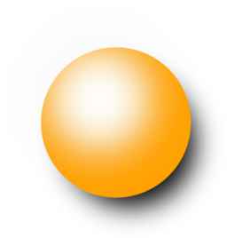 Kugel Orange 1 Clipart.