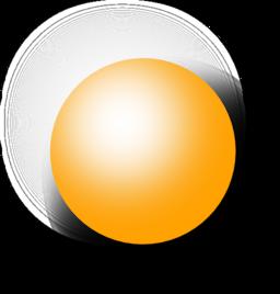 Kugel Orange 1 Clipart.