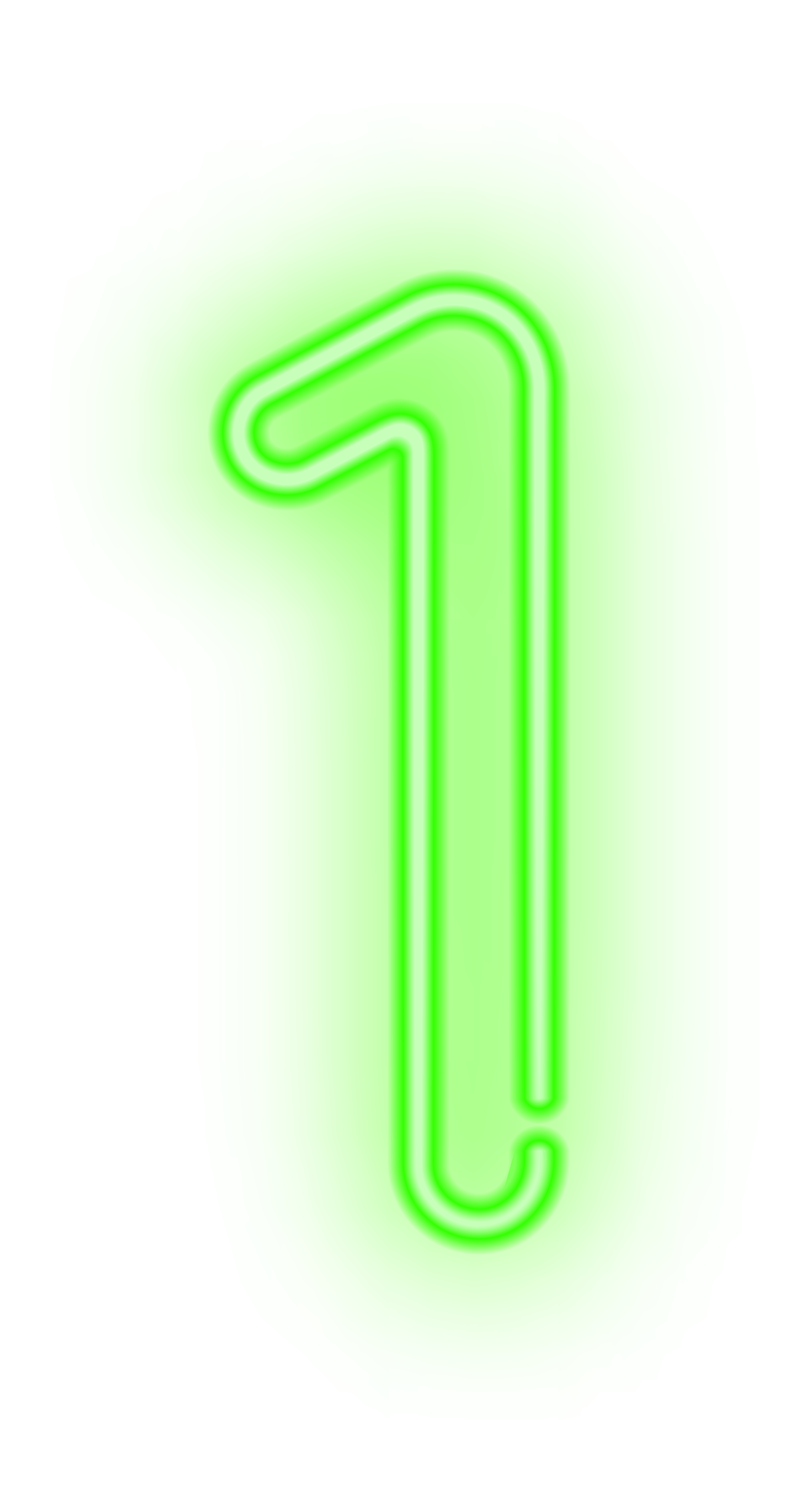 One Neon Green PNG Clip Art Image.