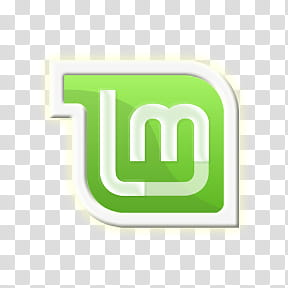 LinuxMint Lmint plymouth, green and white m icon transparent.