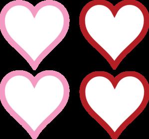 4 Hearts Clipart.