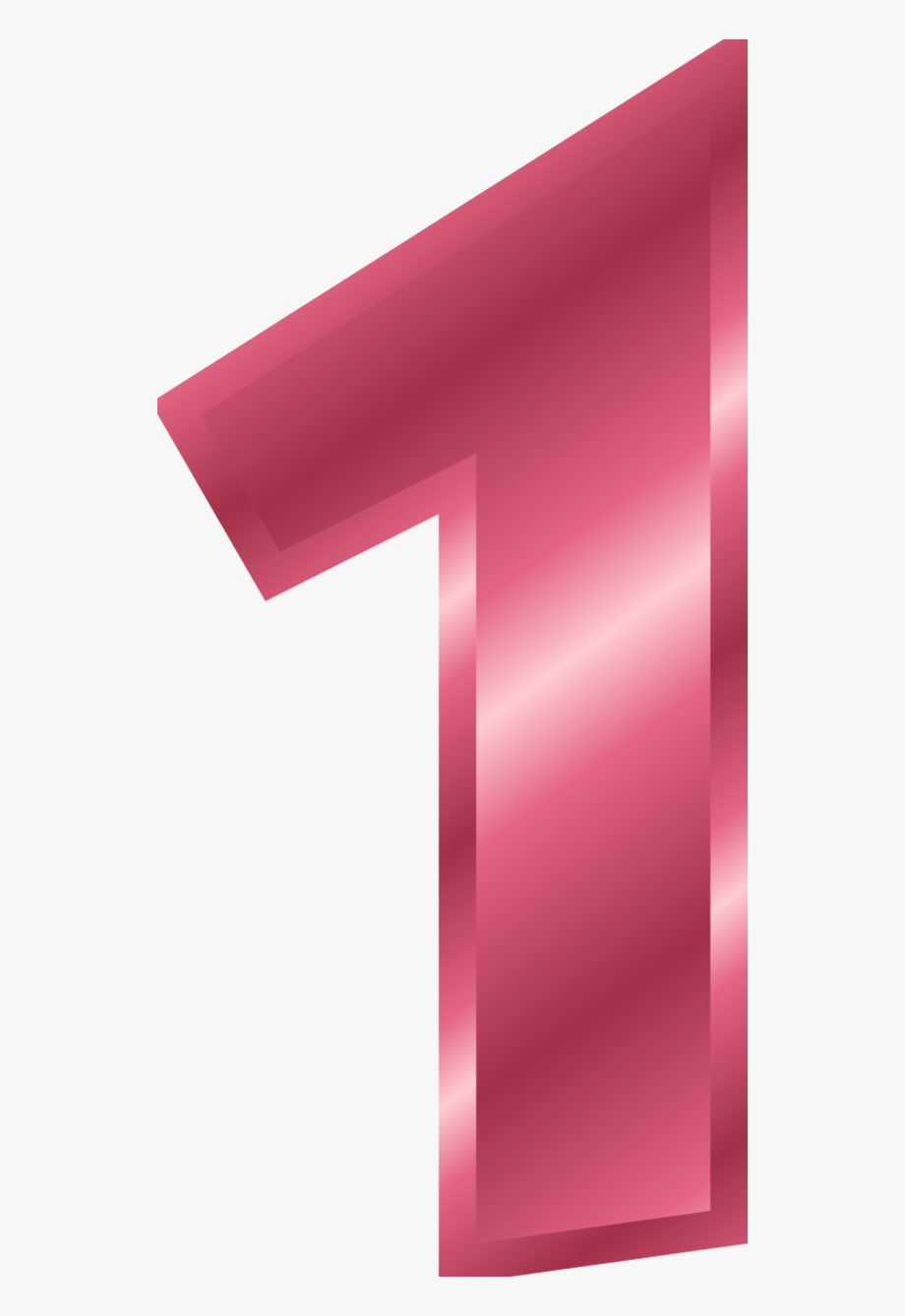 Pink Number 1 Clipart.