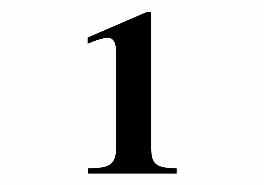 Number 1 Png Number 1 Clipart Black And.