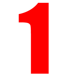 Number 1 Clipart Red.