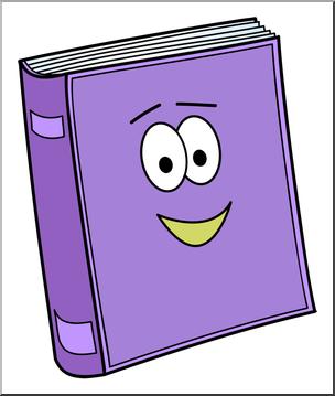 Clip Art: Cute Book 1 Color 2 I abcteach.com.