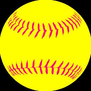Yellow Softball clip art.