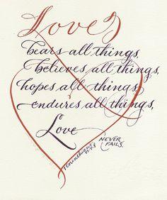 1 Corinthians 13.