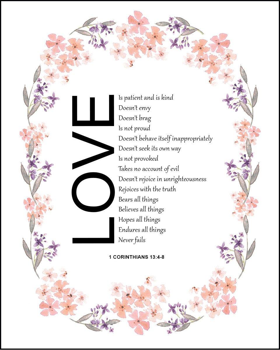 1 Corinthians 13:4.