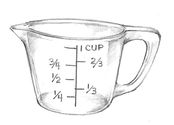 1 cup measuring cup clipart 1 » Clipart Station.