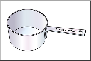 Clip Art: Measuring Cups: One Cup Color I abcteach.com.