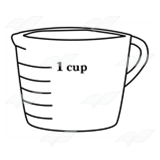 Glass Measuring Cup, for 1 cup.