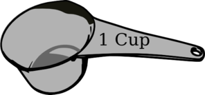 1 Cup Measuring Cup Clipart.