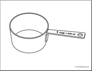 1 cup measuring cup clipart 1 » Clipart Portal.
