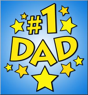 Clip Art: No. 1 Dad Color 1 I abcteach.com.