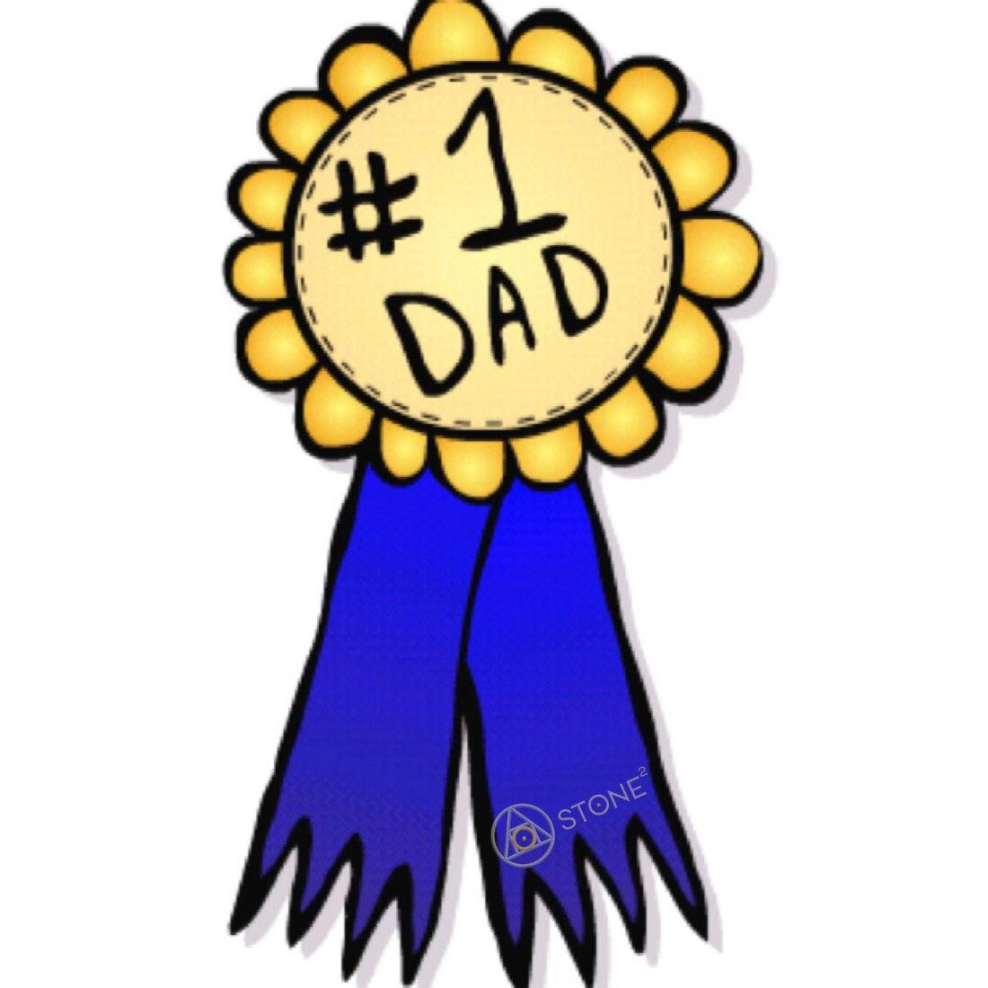 1Dad Ribbon #HappyFathersDay #Holiday #StoneSquared.