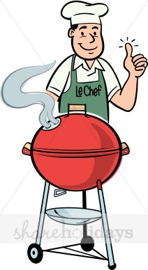 Dad Grilling Clipart.