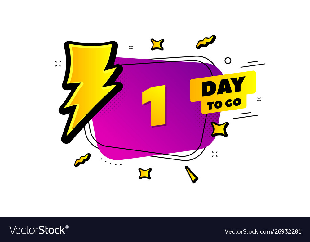 One day left icon 1 day to go.