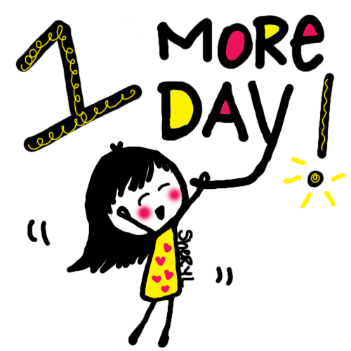 One More Day Clipart.