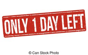 One Day To Go Clipart.