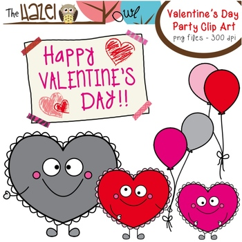 FREE Heart Buddy Valentine\'s Day Party Clip Art: Graphics for Teachers.